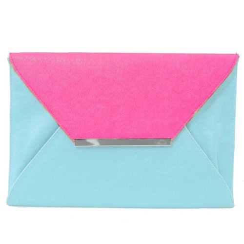 colorblocked envelope clutch