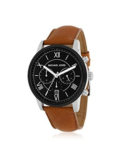 Michael Kors Men's MK8394 Hawthorne Brown/Black Leather Watch