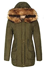 iLoveSIA Womens Hooded Coat Faux Fur…