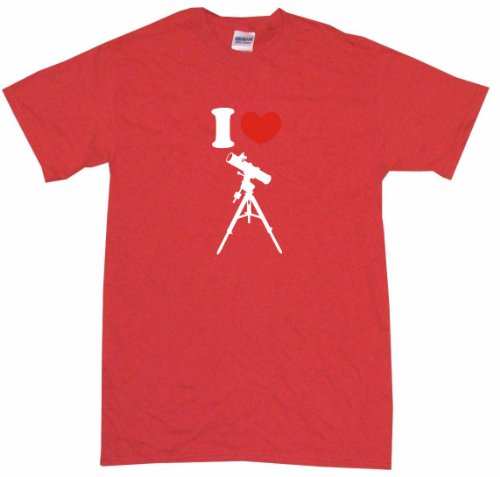 I Heart Love Telescope Logo Kids Tee Shirt Youth Medium-Red