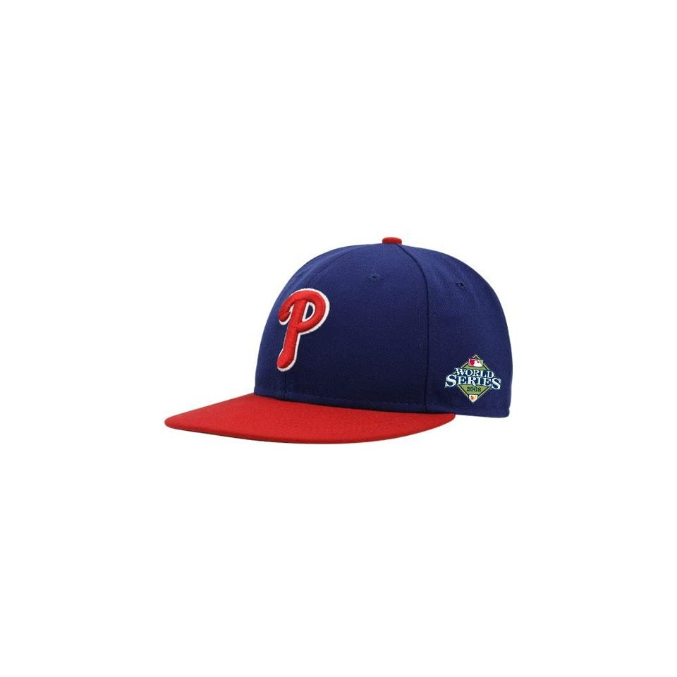 New Era Philadelphia Phillies Royal Blue 2008 MLB National League Champions World Series On Field Fitted Hat
