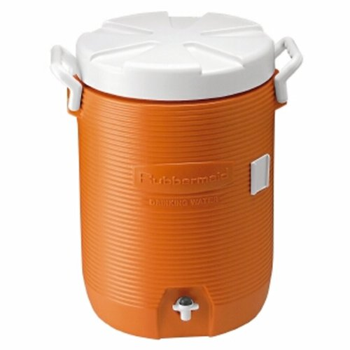 Rubbermaid Insulated Beverage Container/Water Cooler, Orange, 5-Gallon front-35941