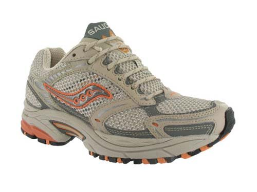 Saucony Women's Grid Excursion TR 2 Running Shoe,Champ/Silver/Orange,7.5 M