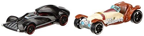 Hot Wheels Star Wars Character Car 2-Pack, Obi-Wan Kenobi vs. Darth Vader - 1