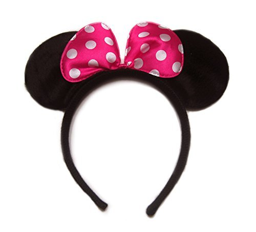 Pink Pollka Dots Minnie Mouse Ear Headband