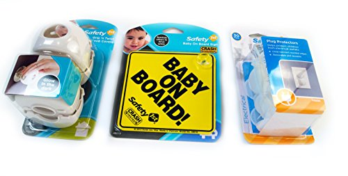 Bundle- 3 Items: Child Safety Products | Child Safety Sign, Outlet Covers, Door Knob Covers | Protect Your Child From Danger And Have Piece Of Mind. Prevent Accidents Before They Happen | Specially Priced Limited Supply front-1020928