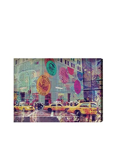 "Oliver Gal ""NYC Fashion Taxi"" Canvas Art"