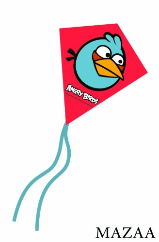 Angry Birds Blue Bird Mini Poly Diamond Kite 7.5""