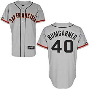 Madison Bumgarner San Francisco Giants Road Replica Jersey by Majestic by Majestic