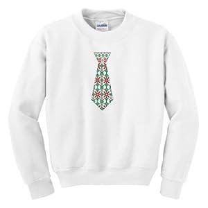 Christmas Neck Tie Youth Crewneck Sweatshirt