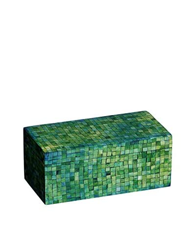 Mela Artisans Decorative Congo Box, Jungle Green, Medium