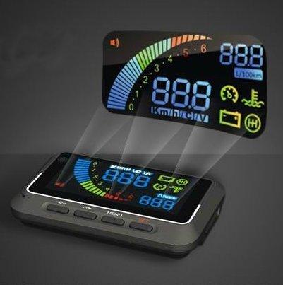ヘッドアップディスプレイ OBD2連動 フロントガラスにスピードメーターを投影! 近未来型モニター HUD◆地球DR