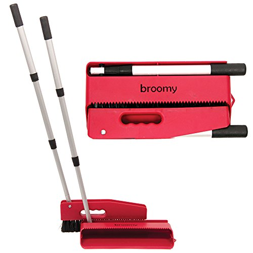 Microklen Broomy Broom And Dustpan Compact Unit - Folds For Easy Storage