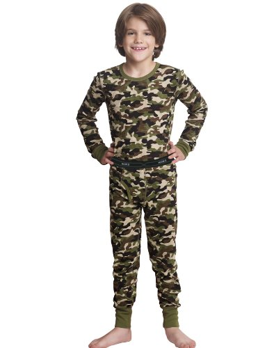 Hanes X-Temp 25450 Boys X-Temp Camo Thermal Set Size Medium - Camo