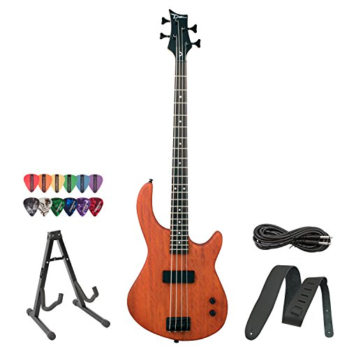Dean Edge 09 Mahogany Electric Bass with Cable, Strap, 12 Pick Sampler Pack & Stand! (Dean Bass Edge 09 compare prices)