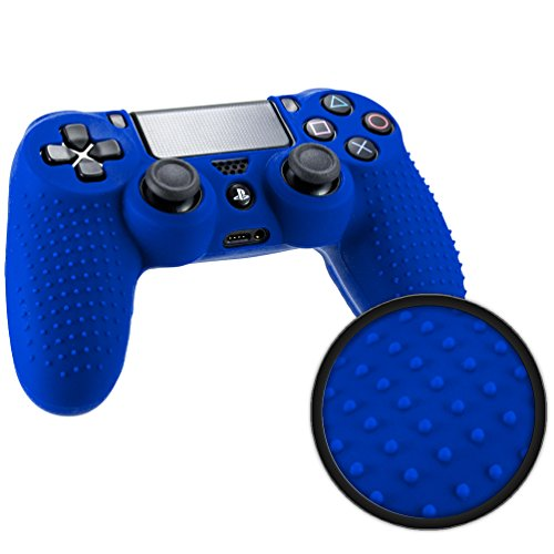 Playstation 4 STUDDED Controller Skin by Foamy Lizard ® ParticleGrip Premium Protective Anti-slip Silicone Grip Case Cover for PS4 Controller (Electron - Blue) (Ps4 Controller Case Cover compare prices)