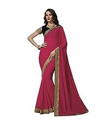 Subhash Sarees Party Wear Pink Color Georgette Saree Sari Sarees