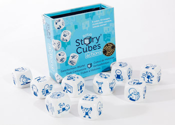 The Actions set of Story Cubes