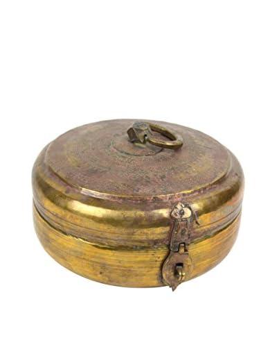 Uptown Down Engraved Brass Pot