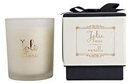 Jolie Sustainable Luxury Candle, vanille 6 Ounce