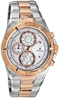 Titan Octane Grey Dial Chronographue Men's Watch 9308KM01