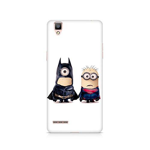 Motivatebox - Batman vs Superman Minions Oppo F1 Plus cover - Polycarbonate 3D Hard case protective back cover. Premium Quality designer Printed 3D Matte finish hard case back cover.