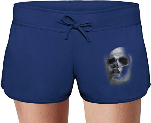 Faded Skull Face Sweat Shorts Estivi per Donne Summer Sweat Shorts For Women & Ladies | 80% Cotton-20%Polyester| DTG Printing| Unique & Custom Large