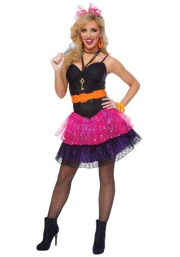 [80s Pop Star Adult Costume] (Pop Star Fancy Dress)