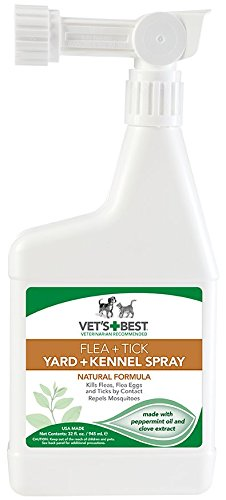 Vet's Best Flea and Tick Yard & Kennel Spray, 32 oz (Flea Control For Yard compare prices)