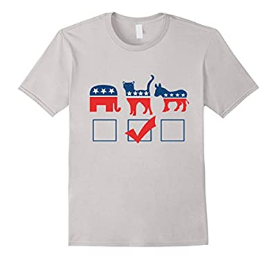 I'm voting for cats shirt funny cat person political t-shirt