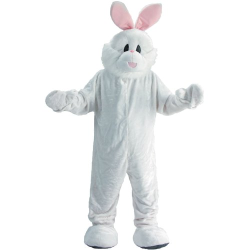 Dress Up America Easter Bunny Mascot, White, One Size