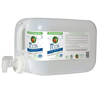 Earth Friendly Products Proline PL9764/05U ECOS Free and Clear Liquid Laundry and Microfiber Detergent, 5 gallon Deltangular