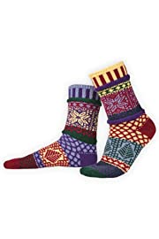 Solmate Winterberry Mismatched USA made Socks