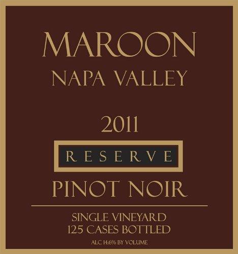 2011 Maroon Reserve Pinot Noir Oak Knoll District 750 Ml