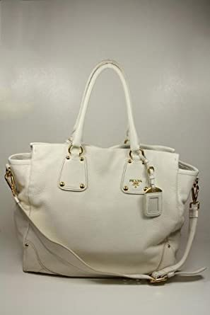 Prada Handbags Large Cream Leather BN1938