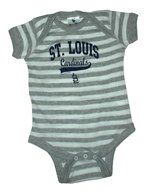 MLB Newborn Baby Love My Team Striped Creepers USA Printed (0-6 Months, St. Louis Cardinals) at Amazon.com
