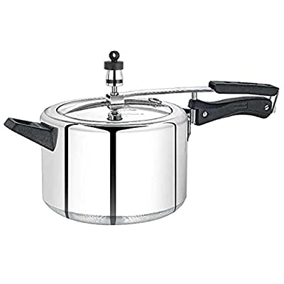 Premier Inner Lid Induction Bottom 5 Litre Pressure Cooker- ( L x B x H) 35 x 13.5 x 18.9, Silver)