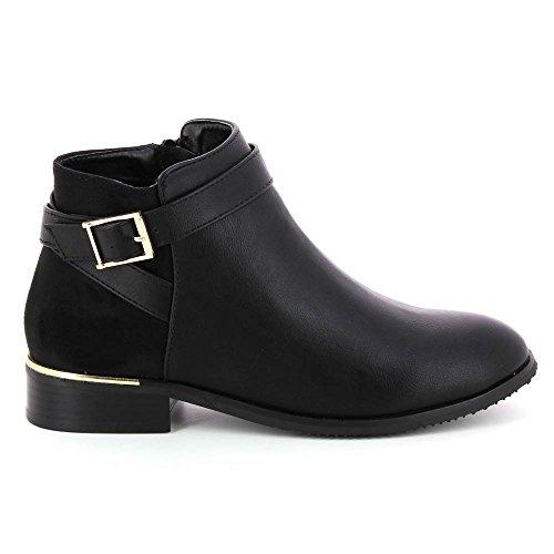 go-mode-bottines-chelsea-bimatiere-a-laniere-decorative-noir-38