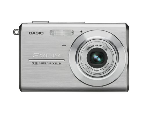 Black Friday Casio Exilim EX-Z75 7.2MP Digital Camera with 3x Anti Shake Optical Zoom (Silver) Deals