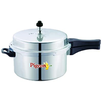Pigeon Calida Induction Base Aluminium Pressure Cooker with Outer Lid, 5 Litres