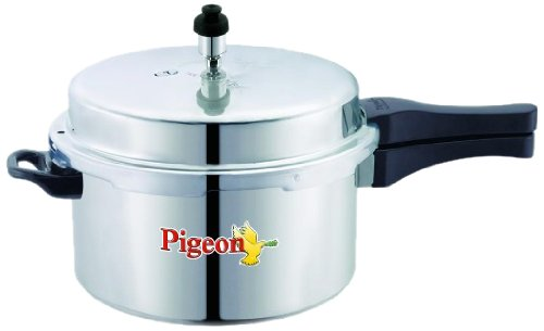 Pigeon Calida Induction Base Aluminium Pressure Cooker With Outer Lid, 5 Litres (Pigeon Induction compare prices)
