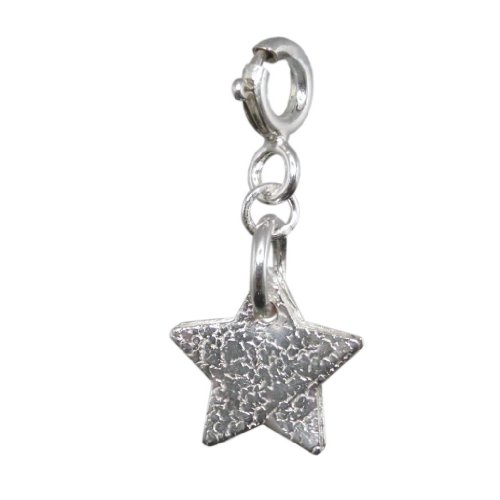 Handmade 925 Sterling Silver Star Charm - Adults / Children - FREE Delivery in UK Gift Wrapped Gifts