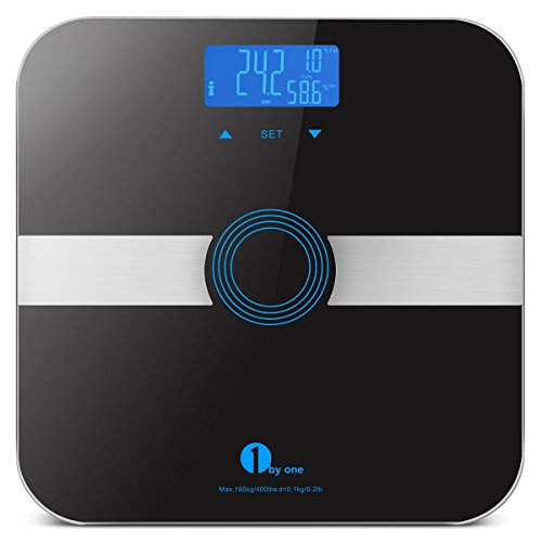 1byone-body-fat-scale-body-scale-bathroom-scale-with-tempered-glass-180kg-400lb-weight-capacity-10-u