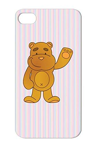 Tpu Teddy Plush Cartoon Funny Animal Figure Child Baby Bear Bears Blanket Orange Case Cover For Iphone 4 Teddy Bear front-578317