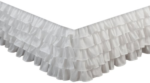 Greenland Home Fashions Multi-Ruffle Bed Skirt, White, King front-326502