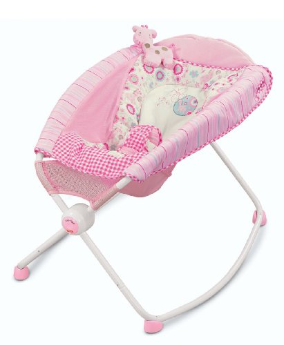Fisher-Price Newborn Rock n' Play Sleeper, Pink Gingham and Giraffe
