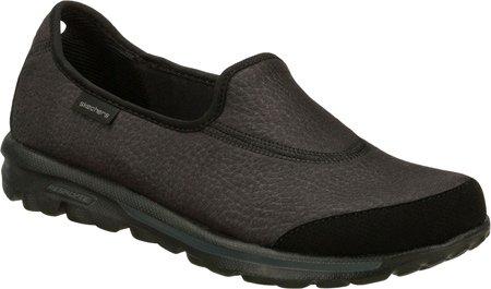 Skechers Go Walk Ultimate Womens Walking Shoes Wide Width Black 9 W