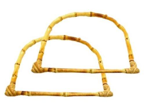 Taschengriff aus Bambus 14 x 18 cm (1 Paar)