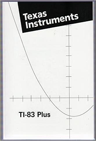 Texas Instruments TI-83 Plus Manual (TI-83 Scientific Graphing Calculator Manual only)