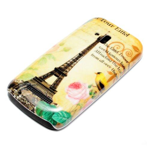 deinPhone Nokia Lumia 610 HARDCASE Hülle Case Eiffelturm Rosa Blume